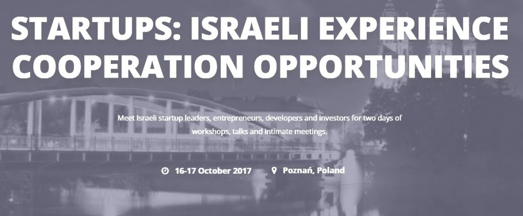 Start Ups – Israeli Experience Cooperation Opportunities Conference Pola